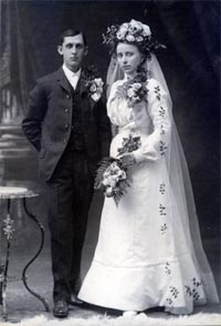 Otto and Dorothea Gottsch Witt Wedding Photo