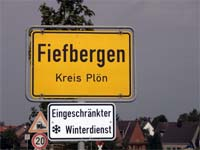 Fiefbergen Village Sign