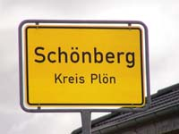 Schönberg Village Sign