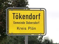 Tökendorf Village Sign